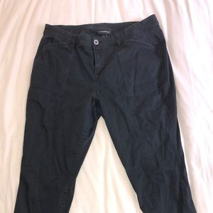 Lane Bryant black cargo style ankle pants
